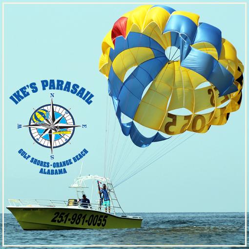parasail trips gulf coast alabama Ikes Parasail